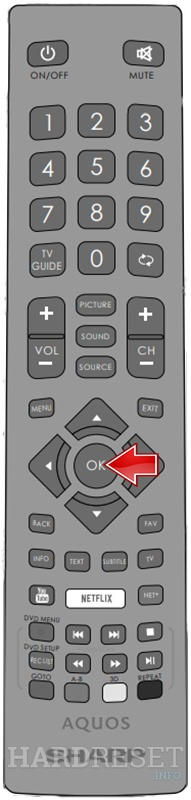 SHARP LC-32CHG6021K Ok button