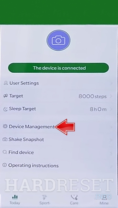 MICROWEAR M8 WearHealth app select device management