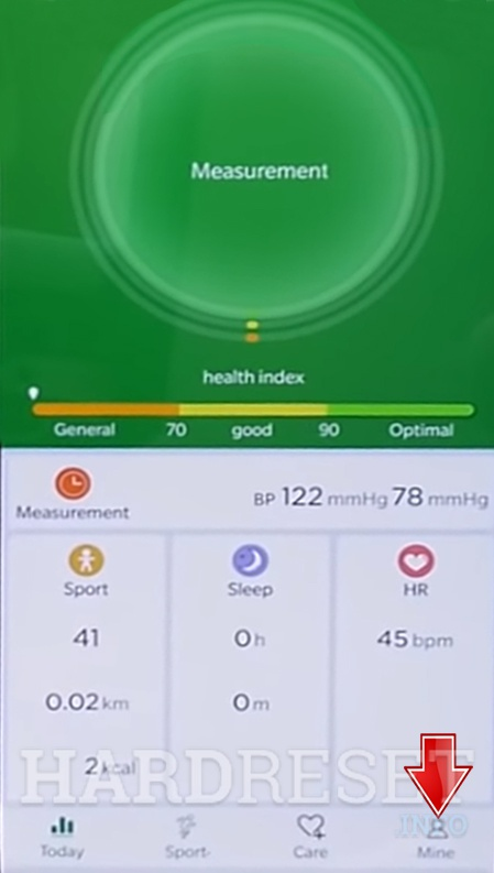 MICROWEAR M8 WearHealth app select mine