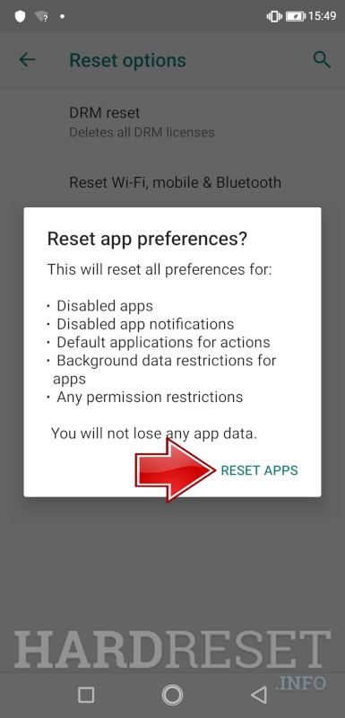 Reset apps ULEFONE S10 Pro