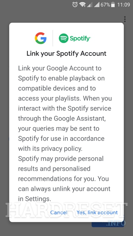 google home app add spotify