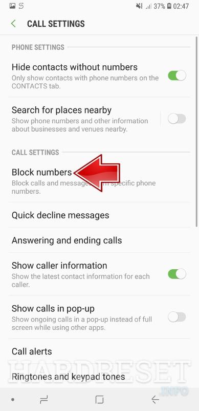 Android: Nummer blockieren
