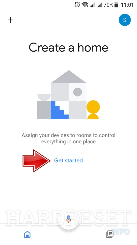 Google home app create home