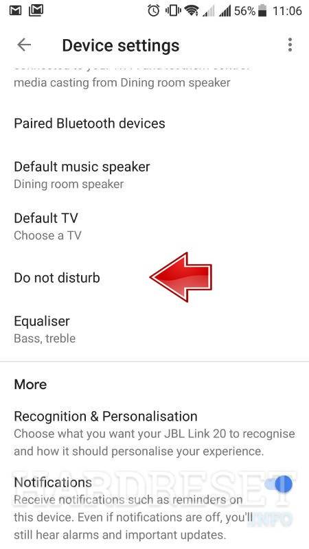 google home app do not disturb