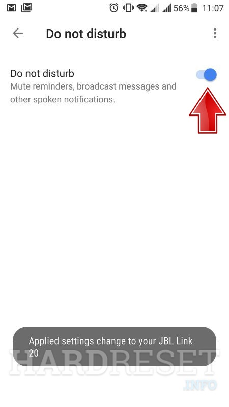 google home app do not disturb active