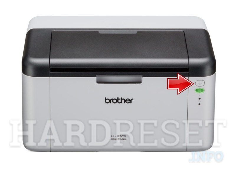 BROTHER HL-1210W power button
