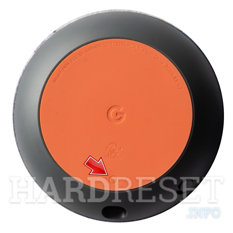 GOOGLE Home Mini reset button