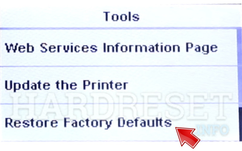 HP OfficeJet 3830 reset factory defaults