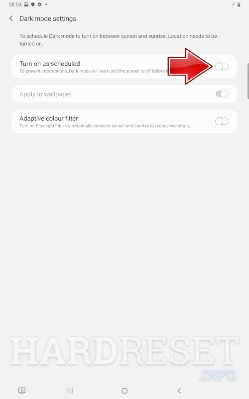 Dark Mode Samsung Galaxy Tab S6 Lite How To Hardreset Info