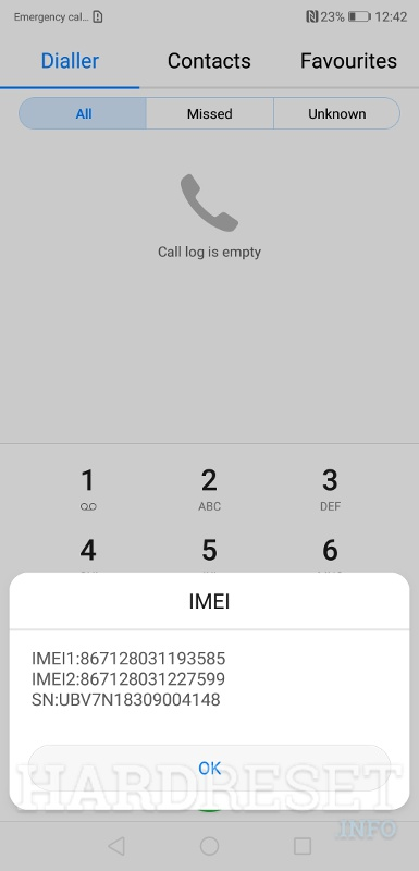 Imei check HONOR 8A 2020