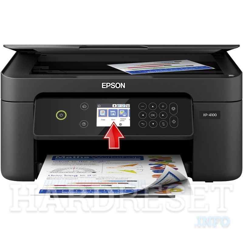 EPSON Expression Home XP-4100  display