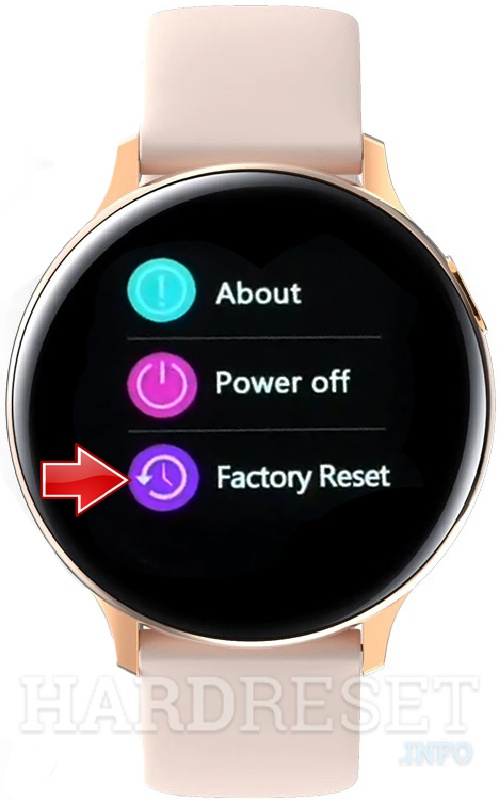 MICROWEAR S20 Factory reset