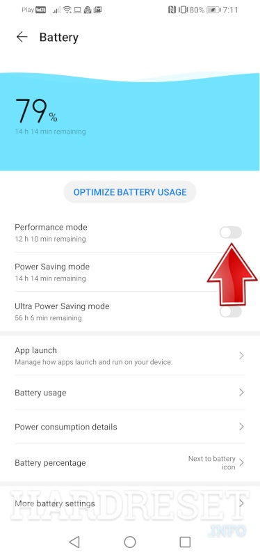 HUAWEI Y6s Performance Mode