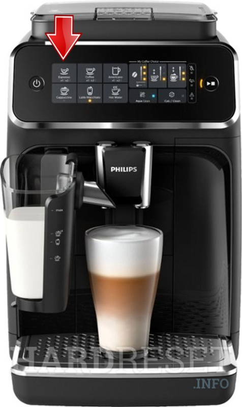 PHILIPS 3200 LatteGo Premium EP3241/50 espresso button
