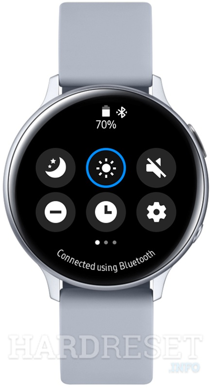 SAMSUNG Galaxy Watch Active2 Quick panel