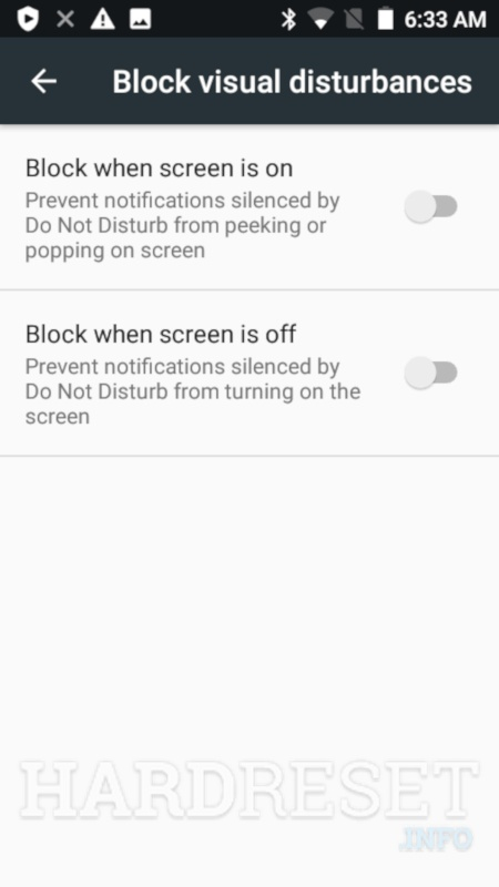 Block visual distrubances MOTOROLA Moto Z