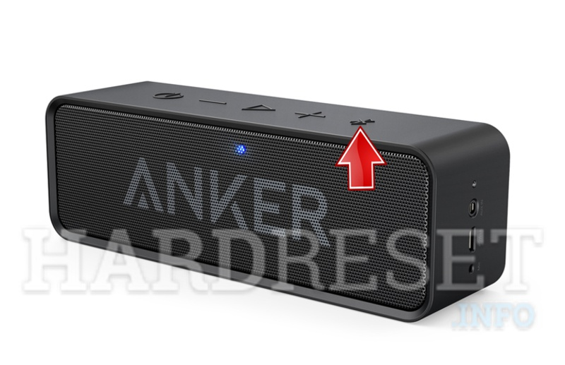 ANKER  SoundCore Bluetooth Speaker bluetooth button