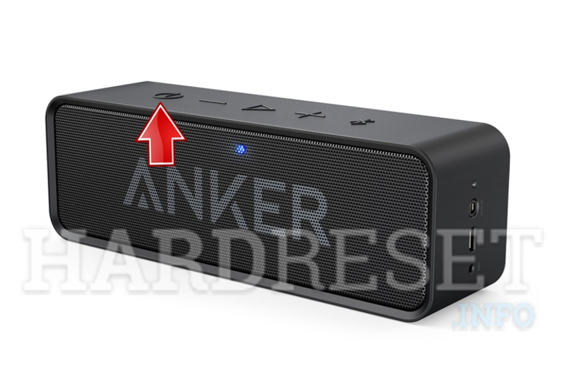 ANKER  SoundCore Bluetooth Speaker power button