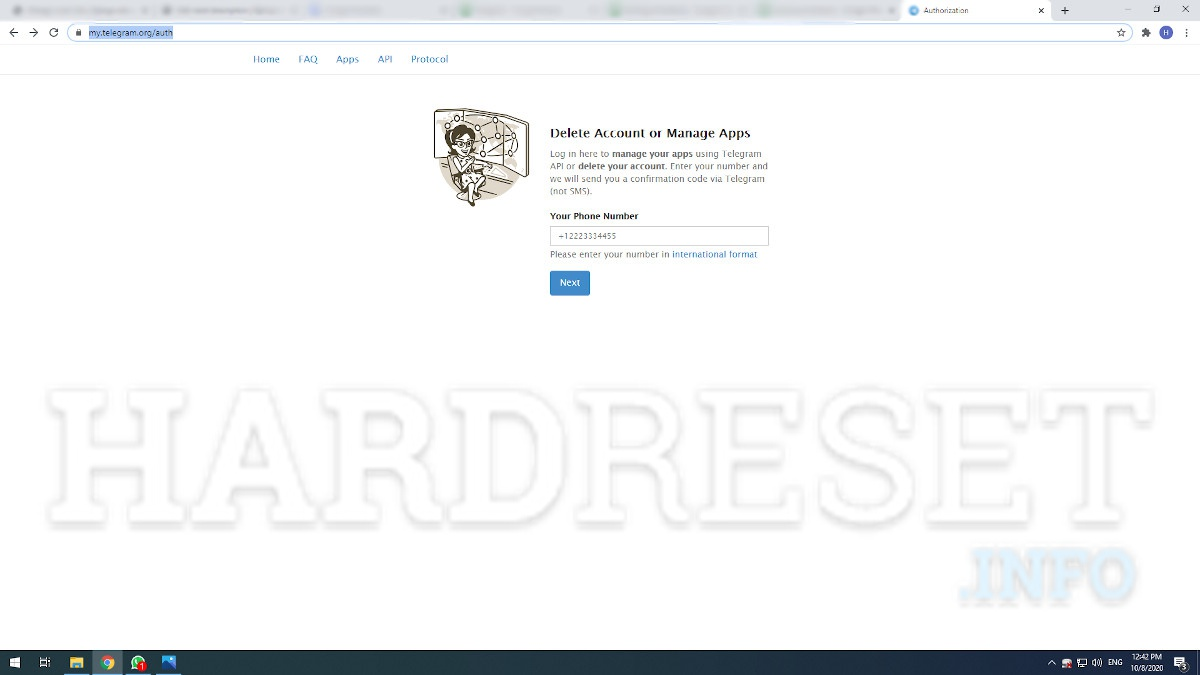 So löschen Sie ein Telegram Konto, Mehr anzeigen   HardReset.info