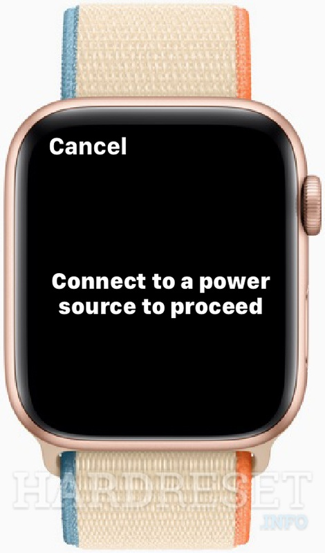APPLE Watch SE Connect watch to the charger