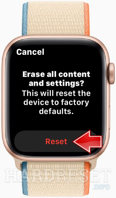 APPLE Watch SE Reset