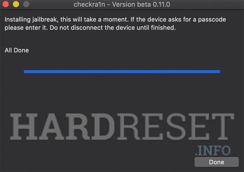 APPLE iPad mini 3 Wi-Fi Jailbreak operation
