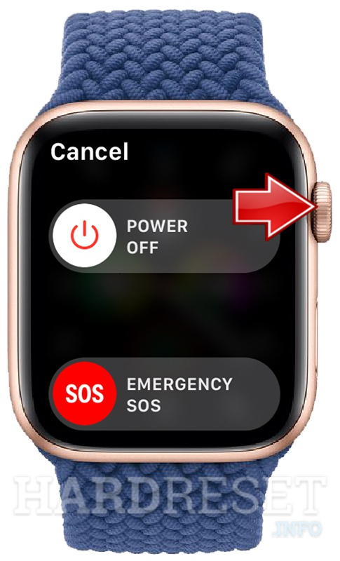 APPLE Watch Series 6 Power menu + Digital crown