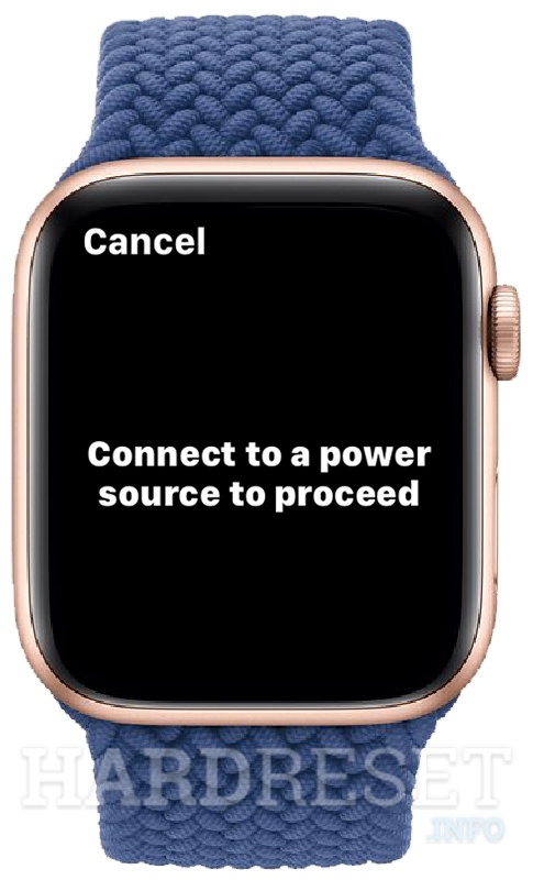 APPLE Watch Series 6 Plug in the charger