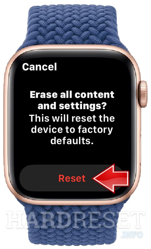 APPLE Watch Series 6 Reset