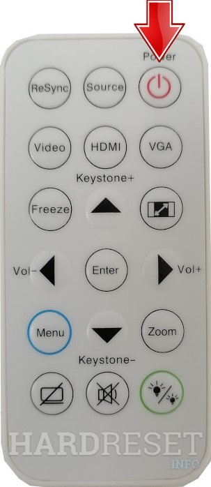 ACER PD1320Wi DLP WUXGA Power button remote