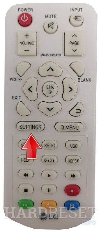 LG PH300 Setting Remote