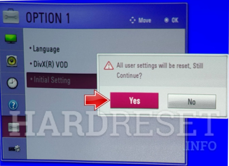 LG PH300 Initial Setting Confirm