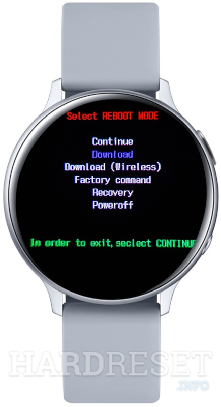 SAMSUNG Galaxy Watch Active 2 Boot mode
