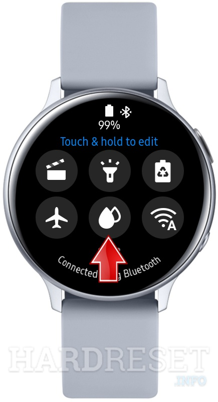 SAMSUNG Galaxy Watch Active2 Water lock icon
