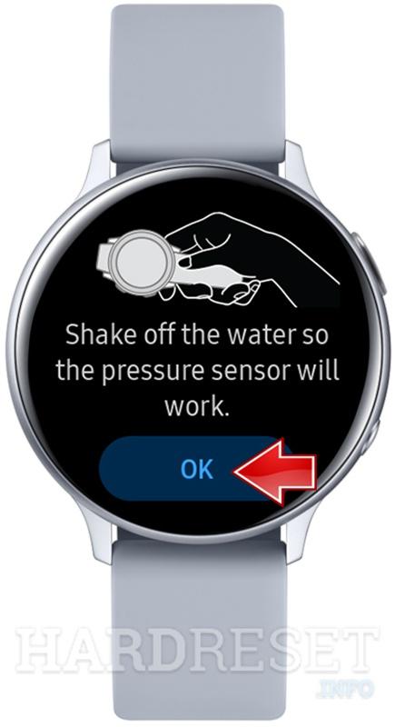 SAMSUNG Galaxy Watch Active2 Ok button