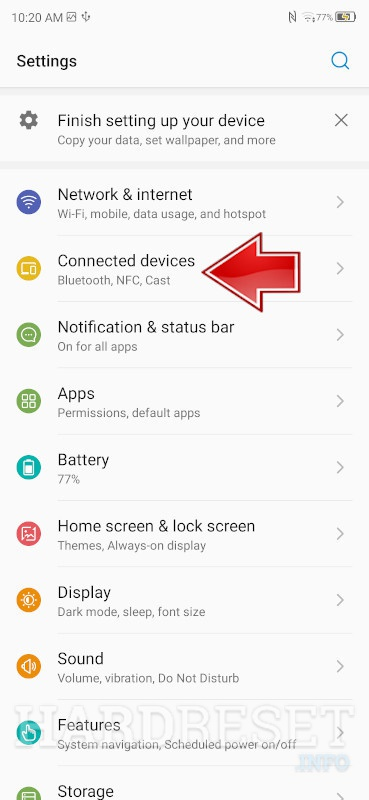 Bluetooth Connection on ZTE Blade A5 2020