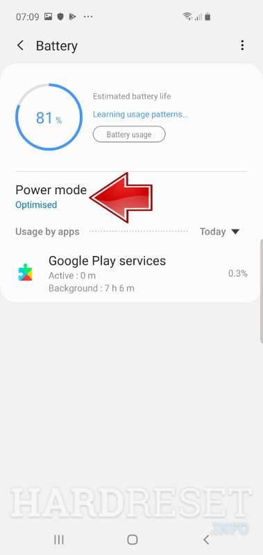 SAMSUNG Power Mode